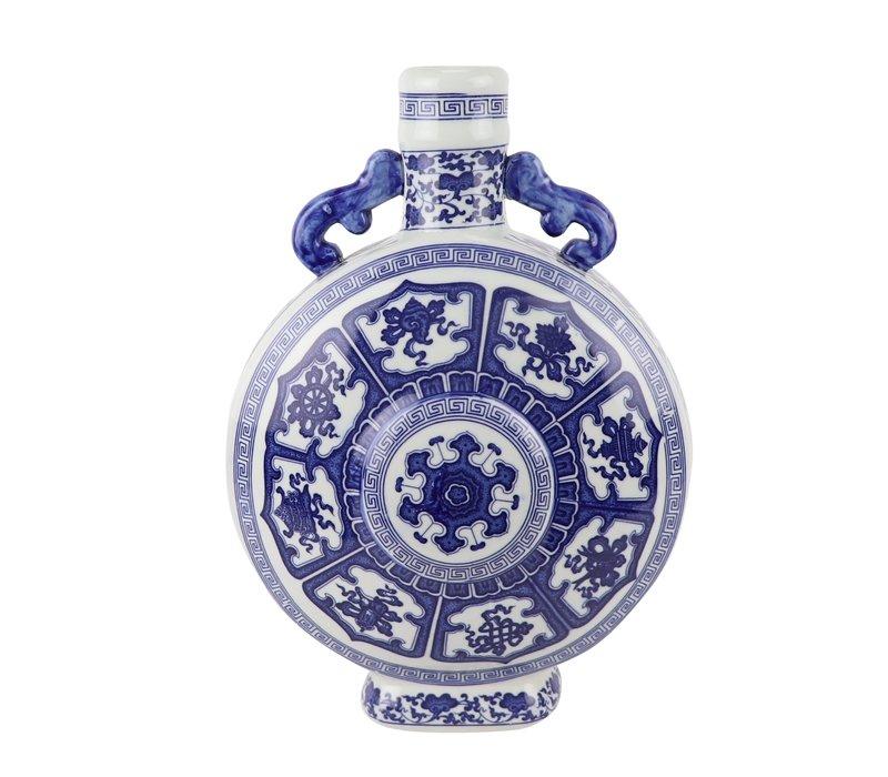 Chinese Vaas Blauw Wit Porselein D22xH35cm