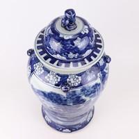 Chinese Gemberpot Blauw Wit Porselein Handgeschilderd Vogels D26xH50cm
