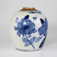 Chinese Gemberpot Blauw Wit Porselein Vogels D14xH17cm