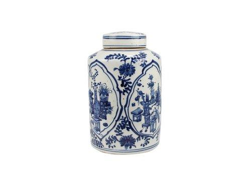 Fine Asianliving Chinese Gemberpot Blauw Wit Porselein D19xH29cm