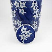 Chinese Gemberpot Blauw Wit Porselein Bloesems D19xH29cm