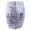 Fine Asianliving Keramieke Tuinkruk Blauw Wit Handgeschilderd Dubbele Blijdschap D33xH45cm