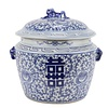 Fine Asianliving Chinese Gemberpot Blauw Wit Porselein Dubbele Blijdschap D25xH25cm