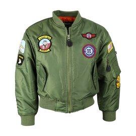 Kombat Kids MA1 Jacket - Olive Green