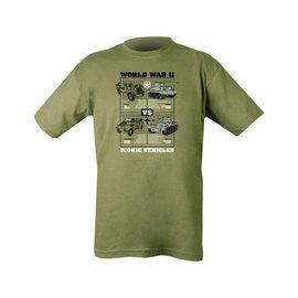 Kombat WWII Iconic Vehicles T-shirt - Olive Green