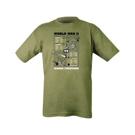 Kombat WWII Iconic Fighters T-shirt - Olive Green