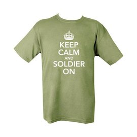 Kombat Keep Calm & Soldier On T-shirt - Olive Green