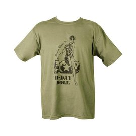 Kombat D-Day Doll T-shirt - Olive Green