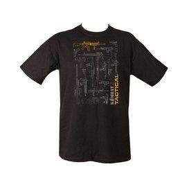 Kombat Tactical Gun Blueprint T-shirt