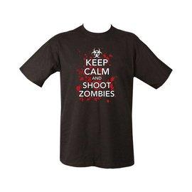 Kombat Keep Calm & Shoot Zombies T-shirt - Black