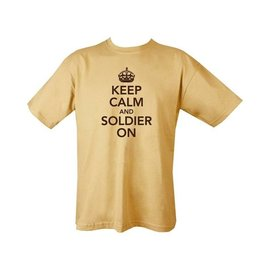 Kombat Keep Calm & Soldier On T-shirt - Sand