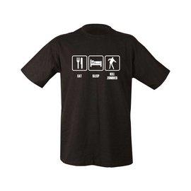 Kombat Eat, Sleep, Kill Zombies T-shirt - Black
