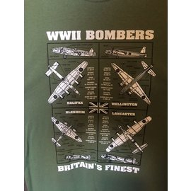 Kombat WW2 Bombers Britain's Finest T-Shirt Olive Green