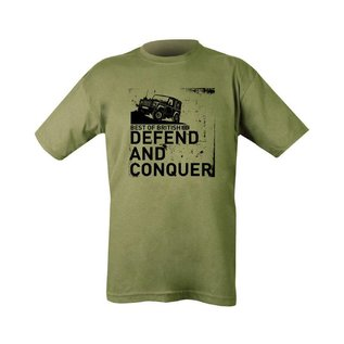 Kombat Defend and Conquer T-shirt - Olive Green