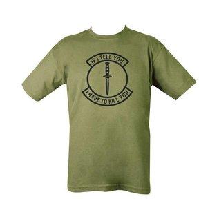 Kombat If I Tell You T-shirt - Olive Green