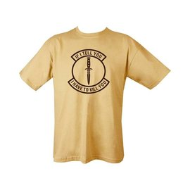 Kombat If I Tell You T-shirt - Tan