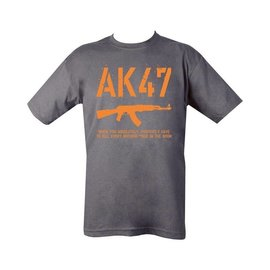 Kombat AK47 T-shirt - Grey - Orange Print