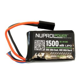 Nuprol 1500MaH 7.4V 20C PEQ Micro Lipo
