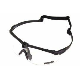 Nuprol Battle Pro's - Black Frame / Clear Lense w/insert