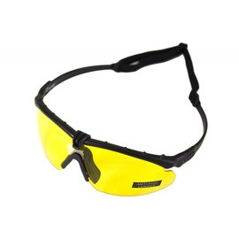 Nuprol Battle Pro's - Black Frame / Yellow Lense w/insert