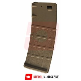 Nuprol N-Mag Mid-Cap Magazine 30/125Rnd - Tan