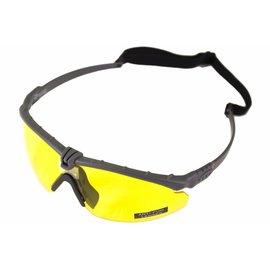 Nuprol Battle Pro's - Grey Frame / Yellow Lense W/Insert