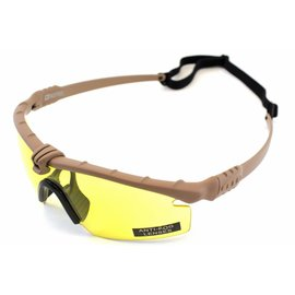 Nuprol NP BATTLE PRO'S - TAN FRAME / YELLOW LENSE
