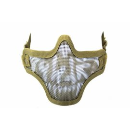 Nuprol NP MESH LOWER FACE SHIELD SKULL - TAN