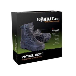 Kombat Patrol Boot - Half Leather/Half Nylon - Black