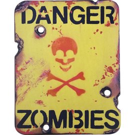 Kombat Danger Zombies Sign