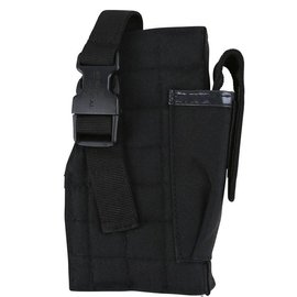 Kombat Molle Gun Holster with Mag Pouch - Black