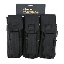Kombat Triple Mag Pouch with PISTOL Mag - Black