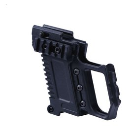 Airsoft wholesales PISTOL CARBINE KIT FOR G17/G18/G19 PISTOLS . - BLACK