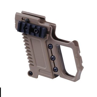 Airsoft wholesales PISTOL CARBINE KIT FOR G17/G18/G19 PISTOLS . - TAN