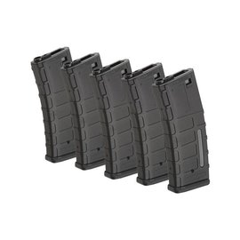 ForceCore Armament Set of 5 Hi-Cap 300 BB Magazines for M4/M16 Replicas - Black