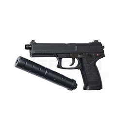 HFC HFC MK23 Gas Pistol with Silencer (Black - GGH-0302)