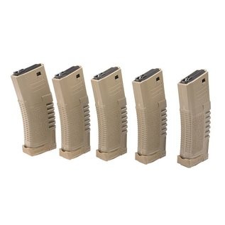 Ares 140rd PMG mid-cap magazine for M4/M16 type replicas - dark earth