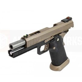 Armoured Works Armorer Works Custom Hi-Capa GBBP (Full FDE Slide - Black Frame - AW-HX1103)