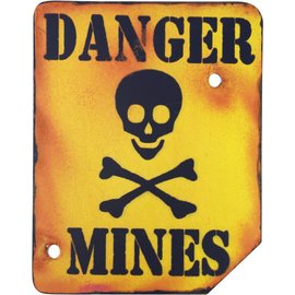 Kombat Danger Mines Sign