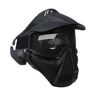 Kombat Full Face Mesh Mask - Black