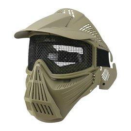 Kombat Full Face Mesh Mask - Coyote