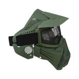 Kombat Full Face Mesh Mask - Olive Green