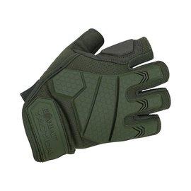 Kombat Alpha Fingerless Tactical Gloves - Olive Green