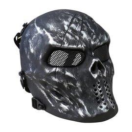 Kombat Skull Mesh Mask - Gun Metal Grey