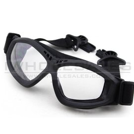 BigFoot Big Foot Clear Glasses (FAST Helmet Adapted Version) (Black)