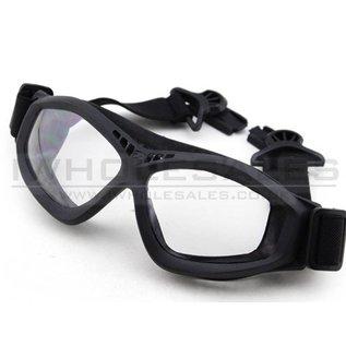 BigFoot Big Foot Clear Glasses (FAST Helmet Adapted Version) (Black)