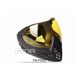 FMA FMA F1 FULL FACE MASK WITH SINGLE LAYER - YELLOW LENS