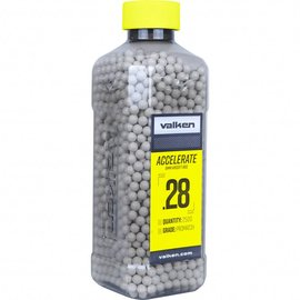 valken Valken Accelerate Airsoft BBs - 0.28G-2500CT-White
