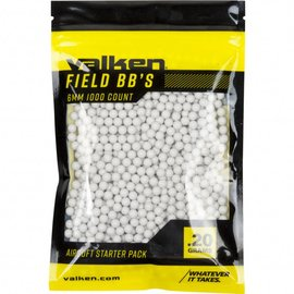 valken Accelerate Airsoft BBs - 0.20G-1000 Count-White