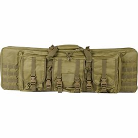 """valken Tactical 36"""" Double Rifle Tactical Gun Case - Tan"""